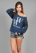 Weekend Warrior Boyfriend Pullover in Royal