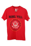 Rebel Yell Classic Crest V neck Tee in Red