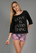 Love is Everything Flash Dance Sweatshirt