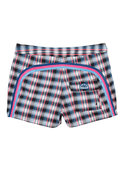 14 Inch Low Rise Boardshort in Navy Plaid