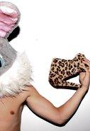 Wilma Leopard Pony Shoe