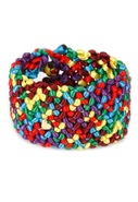 Camilla Cord Cuff with Gold Heart in Multi