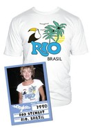 Rod Stewart Rio Brasil Short Sleeve Graphic Tee
