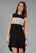 Agnes Dress in Black/Cream