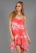 O So Glam Dress in Peach Tie Dye
