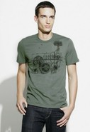 Factory Short Sleeve Graphic Tee In Sage