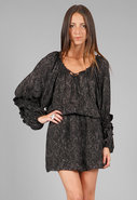 Bohemian Dress in Black Snake