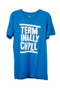 Local Celebrity Terminally Chill Tee in Blue