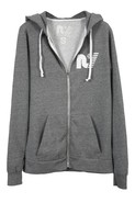 Rebel Yell Fleece Zip Hoodie in Heather Grey