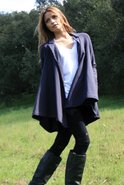 Cape Cardigan in Black