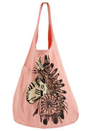 Tribal Horse Oversized Tote Bag in Cotton Candy