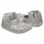 Crawl Aggy Ankle Strap Shoes (Silver/Zebra) - Kids