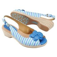 Achelle Sandals (Blue Striped Multi) - Women's San