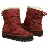 Radler Trail Mid Camp Boots (Dark Red Plaid) - Wom