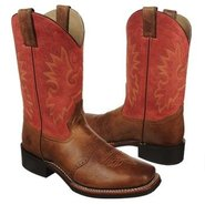 11 inch Wide Square Toe Boots (Mocha/Dusty Red) -