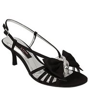Georgia Shoes (Black Satin) - Women's Shoes - 8.5