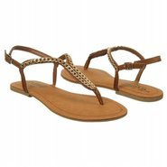 Golden Coin Sandals (Luggage) - Women's Sandals -