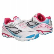 Kinvara 2 Toddler Shoes (White/Black/Blue) - Kids'