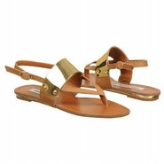 Cufff Sandals (Cognac Leather) - Women&#39;s Sandals -