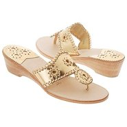 Navajo Mid Wedge Sandals (Gold) - Women's Sandals