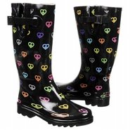 Peace N Hearts Boots (Black) - Women's Rain Boots-