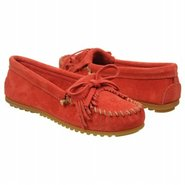 Kilty Suede Moc Shoes (Coral Suede) - Women's Shoe