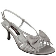 Georgia Shoes (Silver Satin) - Women's Shoes - 10.