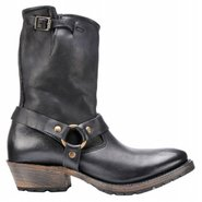 Eliza Boots (Black Leather) - Women's Boots - 11.0