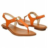 MK Plate Thong Sandals (Tangerine Leather) - Women