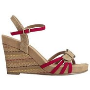 Plush Around Sandals (Red Combo) - Women&#39;s Sandals