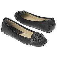 Fulton Moc Shoes (Black Leather) - Women&#39;s Shoes -