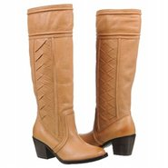 Felicia Mid Heel Boot Boots (Camel Leather) - Wome