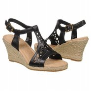 Emily Laser T Strap Sandals (Black) - Women&#39;s Sand
