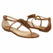 Laurel Flower T Strap Sandals (Tan Leather) - Wome