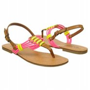 Pop-sicle Sandals (Luggage/Neon Pink) - Women's Sa