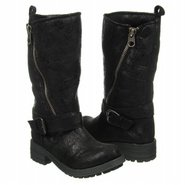 Cabin Boots (Black Distressed) - Women&#39;s Boots - 8