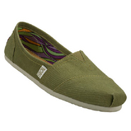 Bobs-Ballyhoo Shoes (Olive Denim) - Women's Shoes