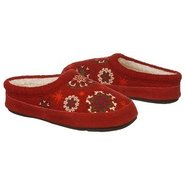 Snowflower Mule Shoes (Deep Red) - Women&#39;s Shoes -