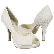 Kelly Shoes (Ivory Satin/Lace) - Women's Shoes - 8