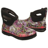 Classic Short Boots (Black May Flowers) - Women's