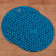CHEFS Silicone Pot Holder, 6 inch - Blue set of 2