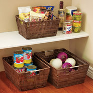 Woven Rattique Storage Basket - set of 3