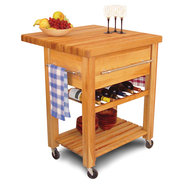 Catskill Work Center - Baby Grand with Wine Rack