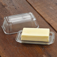 Glass Butter Dish - Glass