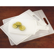 Set/3 Commercial Cutting Boards with Grooves - Set