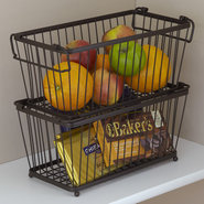 York Stackable Pantry Storage Basket - small set/2