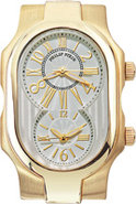 Signature Dual Dial Large Yellow Gold Plated Case 