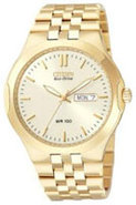 Gold Eco-Drive Corso Caliber E101 Mens Watch - BM8