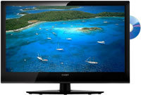 23   LED Black Flat Panel HDTV With Built-In DVD P