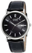 Eco-Drive Black Dial Mens Watch - BM8240-03E